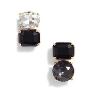 kate spade double drop asymmetrical stud earrings